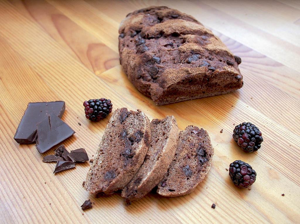 Chocolate Blackberry bread by 20 Shekels