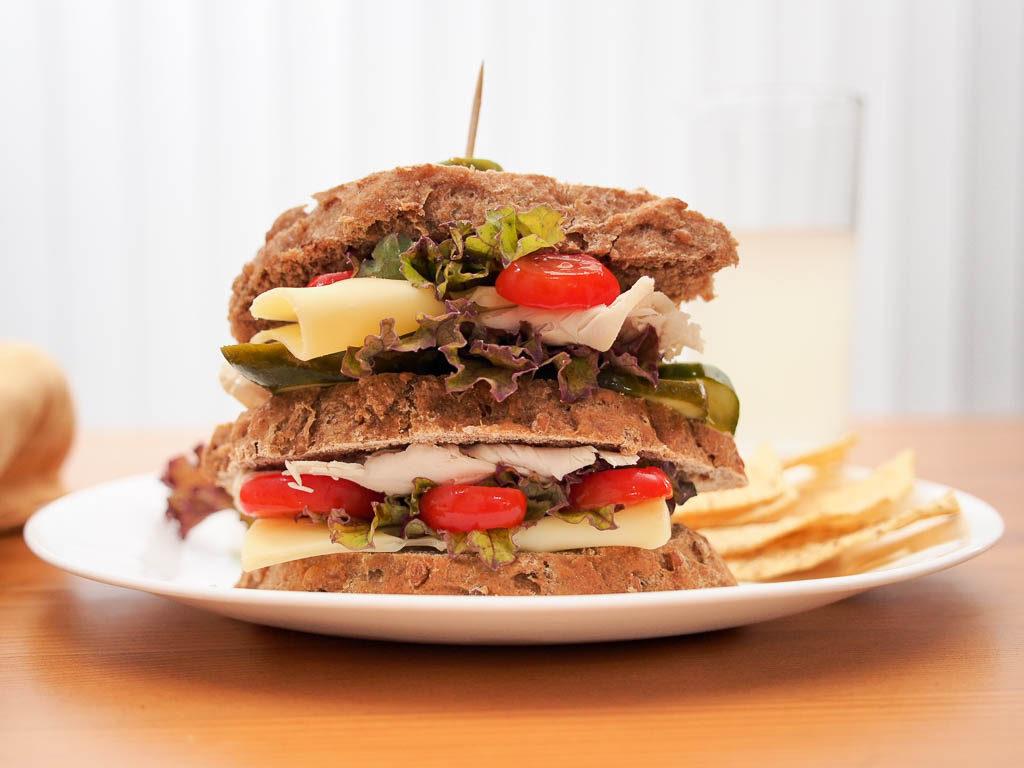 Sandwich made with 20 Shekels Ezekiel bread